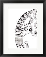 Framed Lone Elephant 2