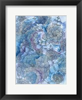 Blue Jungle 3 Framed Print