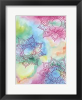 Watercolor Blooms 1 Framed Print