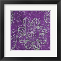 Framed Purple Floral