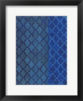Framed Quatrefoil Blues