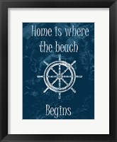 Home Is At The Beach Framed Print