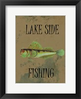 Lake Side Fishing Framed Print