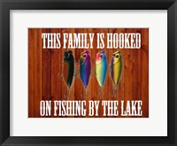 Hooked On Fishing Framed Print