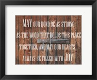 Lodge Prayer Framed Print