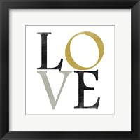 Color Typo Love Framed Print