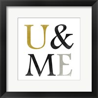 Color Typo U&ME Framed Print