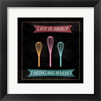 Taking Whisks Framed Print