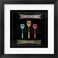 The Flip Side Framed Print
