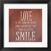 Your Smile Framed Print