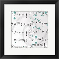 Framed Painted Music