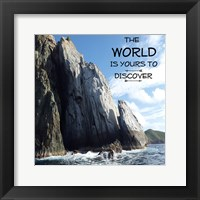 Discover The World Framed Print