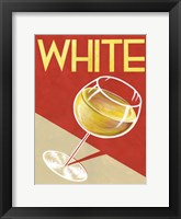 Retro White Framed Print