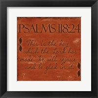 Psalms 118-24 Framed Print