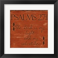 Psalms 27-1 Framed Print