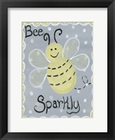 Framed Bee Sparkly