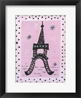 Framed Eiffel Polka