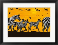 Framed Zebra Family