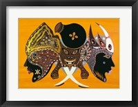Framed Bantu Mask