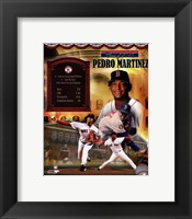 Framed Pedro Martinez MLB Hall of Fame Legends Composite