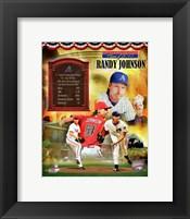 Framed Randy Johnson MLB Hall of Fame Legends Composite