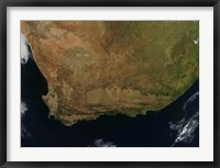 Framed Satellite view of South Africa