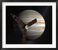 Framed Artist's Concept of the Juno Spacecraft in Orbit around Jupiter