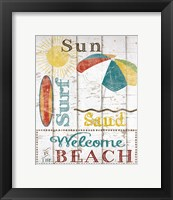 Framed Sun, Surf & Sand