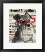 Hound Headline Framed Print