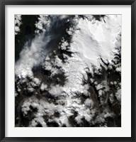 Framed Chaiten Volcano in Chile