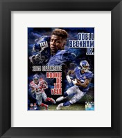 Framed Odell Beckham Jr. 2014 NFL Offensive Rookie Of The Year Portrait Plus