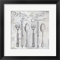 Vintage Cutlery III Framed Print