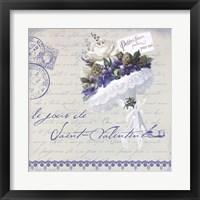 Framed Vintage Valentine's Bouquet