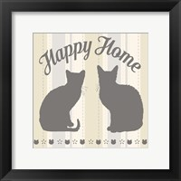 Framed Happy Home Cats