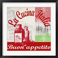 Framed La Cucina Italia