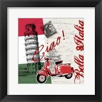 Framed Ciao Pisa
