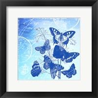 Vintage Butterflies Framed Print