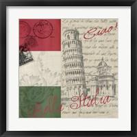 Framed Vintage Travel Italia II