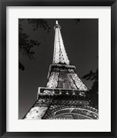 Framed Eiffel Tower at Night