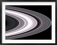 Framed Small Particles in Saturn's Rings