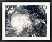 Framed Hurricane Gustav over Jamaica