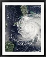 Framed Hurricane Ike over Cuba, Jamaica, and the Bahamas