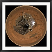 Framed Mars Exploration Rover on the Surface of Mars
