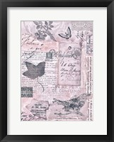 Letters and Leaves I Framed Print