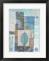 Letters and Leaves II Framed Print