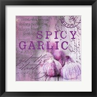 Farmer's Market Garlic Framed Print