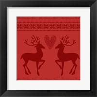 Framed Christmas Red