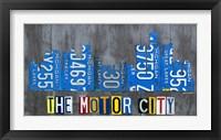 Framed Detriot City Skyline License Plate