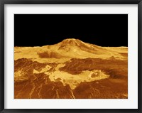 Framed 3D Perspective View of Maat Mons on Venus