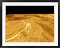 Framed 3D Perspective View of Latona Vorona and Dali Chasma on Venus
